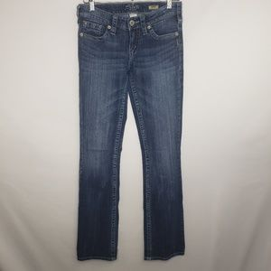 Silver Medium Blue Aiko Boot Cut Jeans